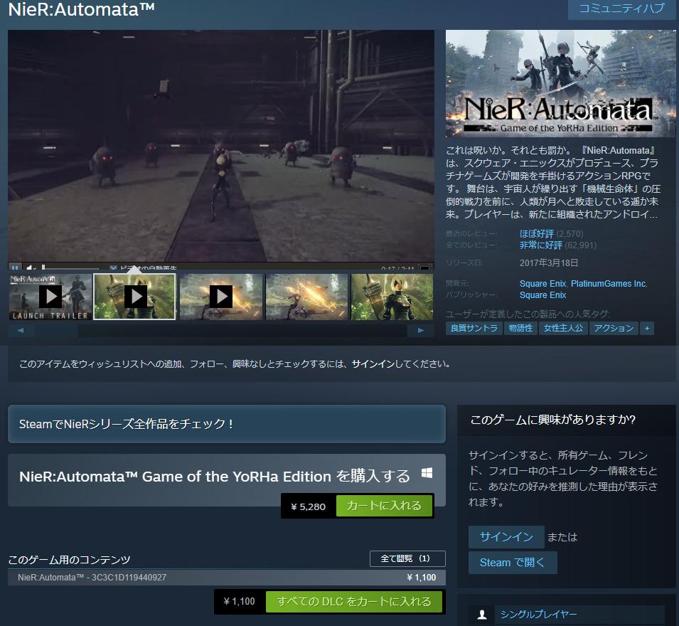 Steamの価格