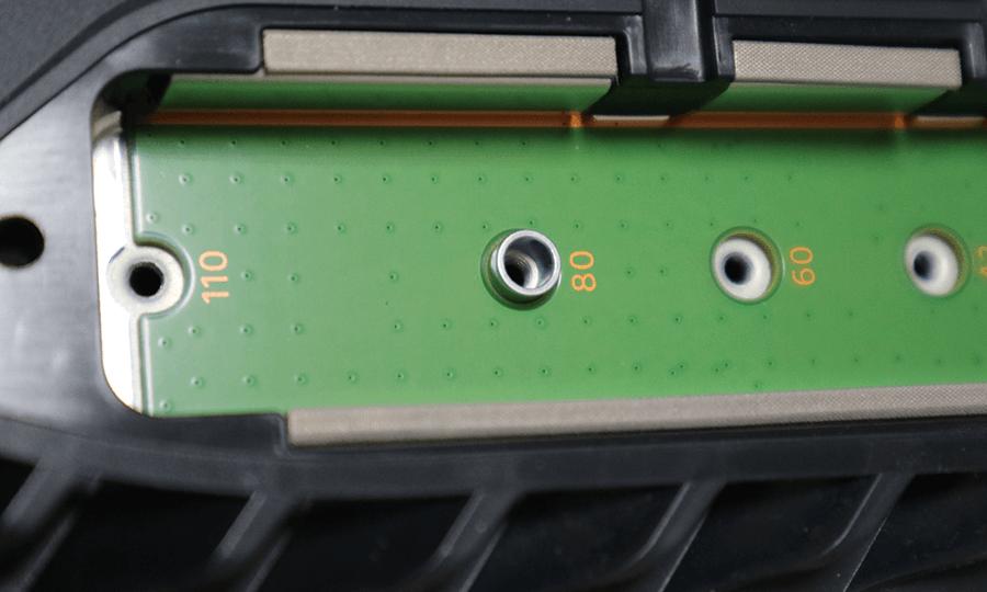 スペーサーを80にセット